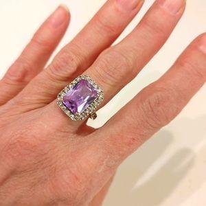 Amethyst Stirling silver ring